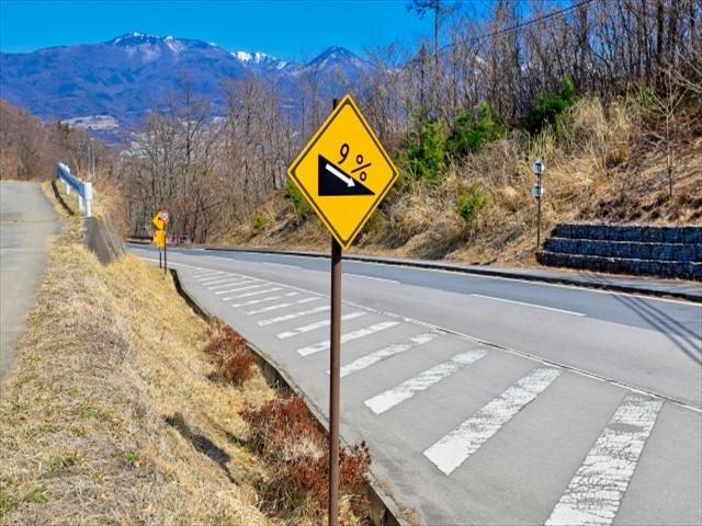 勾配を表す道路標識